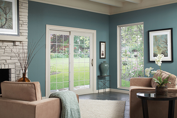 Sliding patio door phoenix french rail patio doors for Full glass patio door